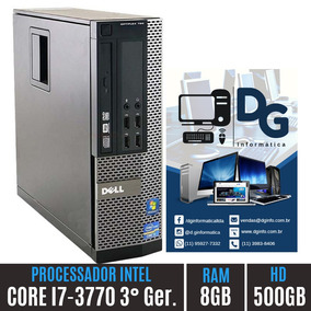 Cpu Home Dell Core I7 3° Ger. 8gb Hd500 Queima De Estoque