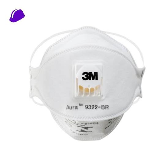 50 Máscara Valvulada 3m Pff2 Aura 9322 N95 - C/ Nota Fiscal