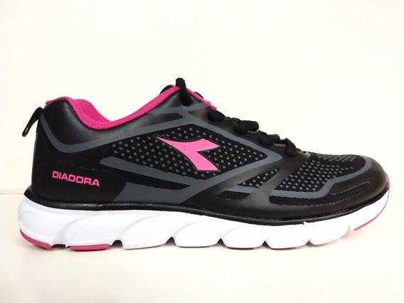 Zapatillas Diadora Dots 8470001 Negro/rosa Dep