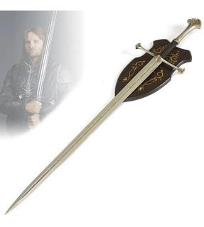 Espada Aragorn Anduril Com Suporte O Senhor Dos Aneis 136cm
