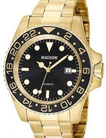 Relógio Magnum Masculino Dourado Ma32934u