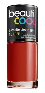 Venta Por Unidad - Esmaltes 10 Free Efecto Gel - Rojo O Nude