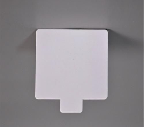 Imagen 1 de 1 de Base Cuad Plast Ppm Blanco Mate 8x8 C/ Pestaña (x200u) - 151