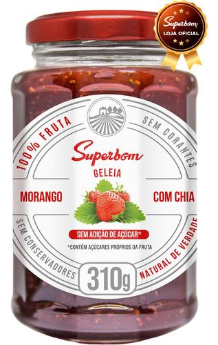Geleia 100% Morango Com Chia