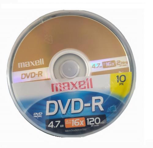 Dvd-r 16x Maxell Torre De 10 Unidades