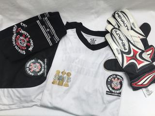 Camisa Futebol Corinthians, Shorts, Meião E Luva Kit 2015