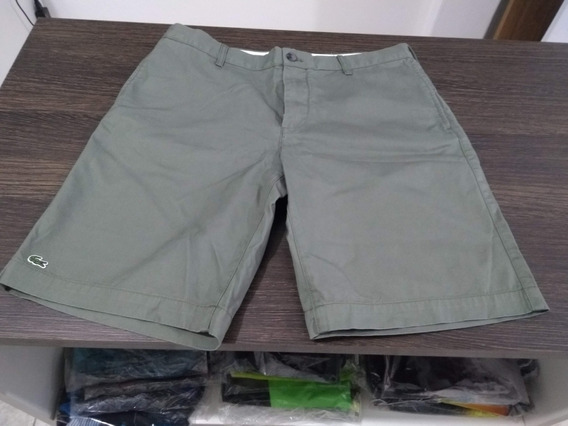 Bermuda Lacoste Sarja Jeans Original Promoção