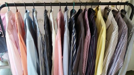 Lote30 Camisas Social Masculina Longas E Curtas Atacadista
