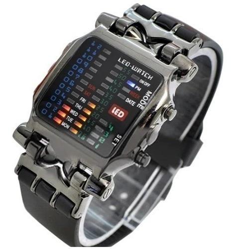 Relógio Led Binário Masculino Preto Digital Idem Tvg Barato