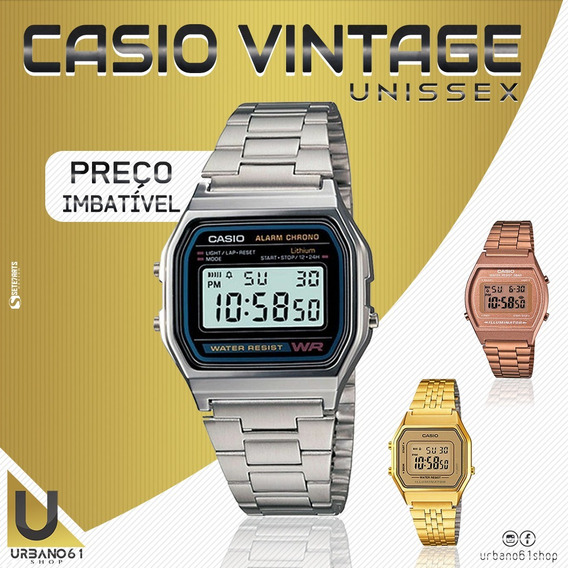 Relógio Unissex Vintage Retrô.