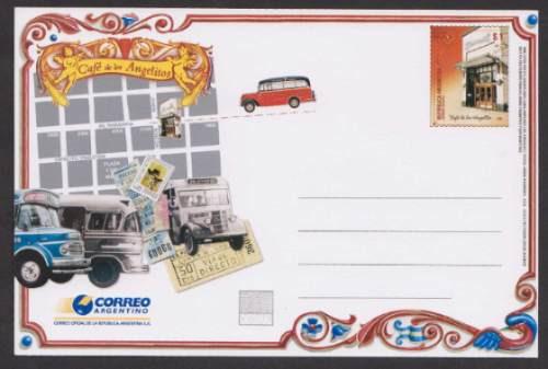 Argentina 2008 Entero Postal N° 96 Cafe Los Angelitos