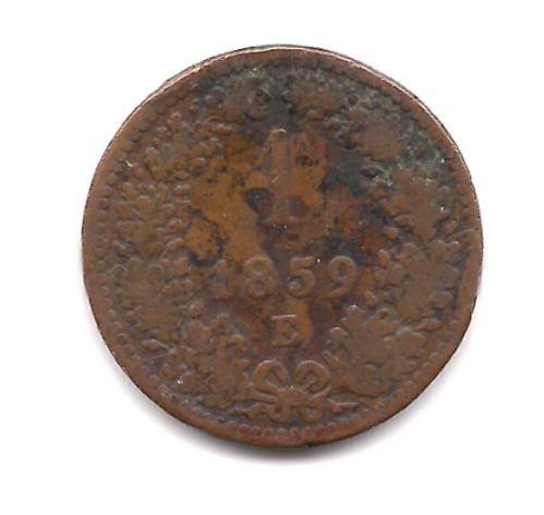 Moneda De Austria Año 1859 De 1 Kreuzer Buena