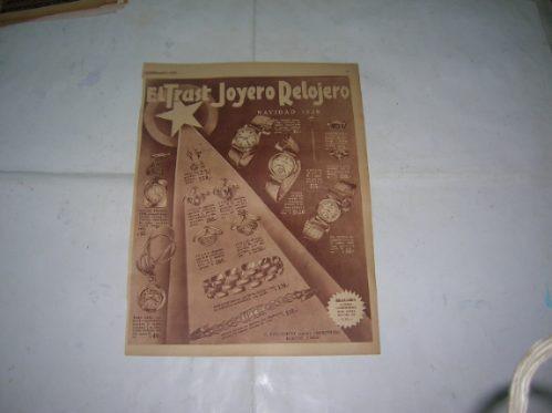 Publicidad 1938 Trust Joyero Relojero Navidad Joyas Reloj