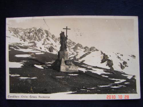 Chile, Cristo Redentor En La Cordillera. Antigua Postal.