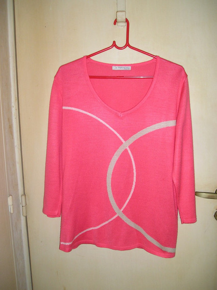 Pullover En Lanilla Color Fucsia.