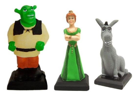 Shrek Família Shrek, Fiona E O Burro Kit C/3 Peças Em Resina