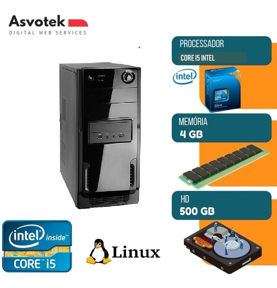 Computador Intel Asvotek Core I5 4gb Hd500 Mod Asi524500