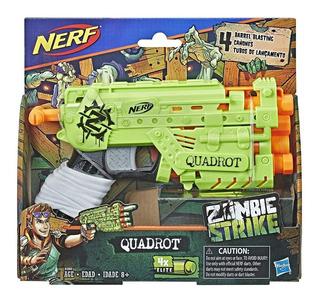 Nerf Zombie Strike Quadrot Pistola Y Dardos Hasbro Bigshop