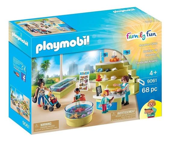Aqua Shopping Do Aquário Family Fun Original Playmobil 9061