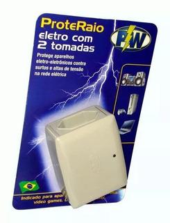 Protetor Eletrico 2 Tomadas Raio E Surtos Geral 127v