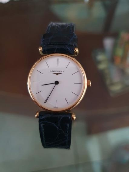 Relógio De Ouro Suíço Longiness Feminino