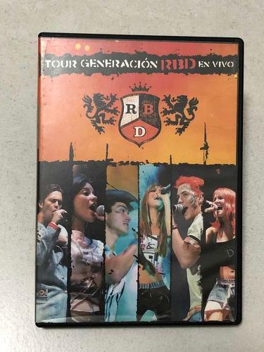 Dvd Rbd Tour Generacion Rbd