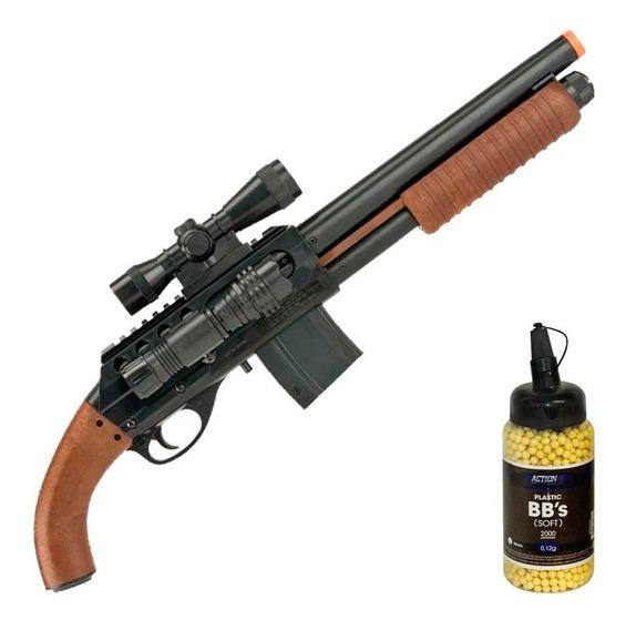 Carabina Airsoft Shotgun M3000 Pistol Grip - 6mm - S&w+ Bbs