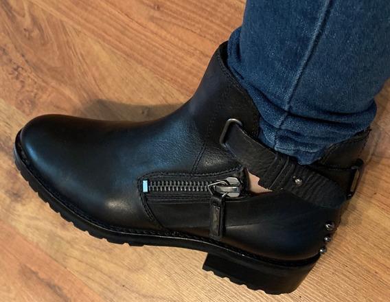 Zapatos Botas Dolce Vita Piel Fina Negras Temporada 24.5 Originales!!
