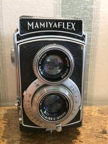 Câmera Mamiyaflex Tlr Lente 75mm F/3.5 Fabric Japão Ocupado