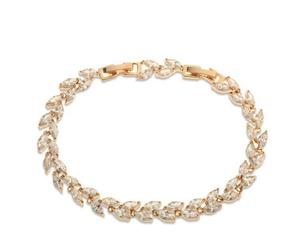 Pulseira Bracelete Dourada Com Zircônia Noiva Debutante