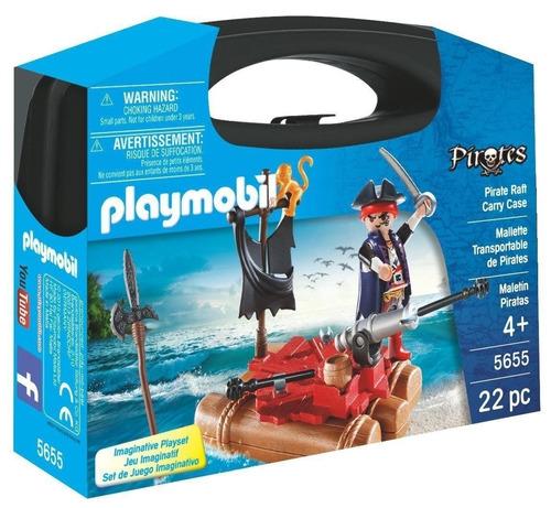 Playmobil Pirates Maletin Balsa Con Pirata Y Cañon 5655