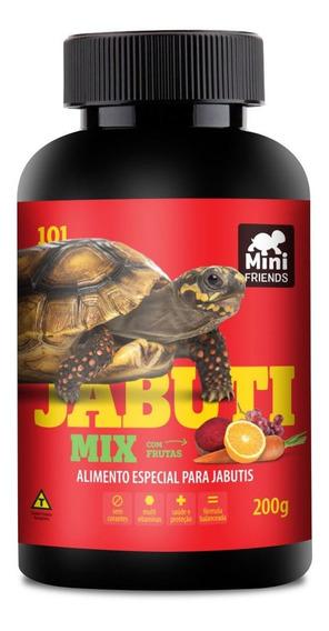 Mini Friends - Alimento Premium Jabuti Mix - 200 G