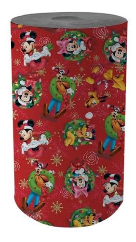 Bobina Papel De Regalo Muresco Navidad Disney 35 Cm
