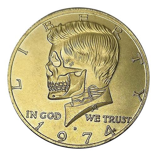 Imagen 1 de 11 de Moneda Kennedy Medio Dólar 1974