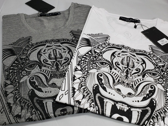 Playera Gucci Pp Tiger Blanca