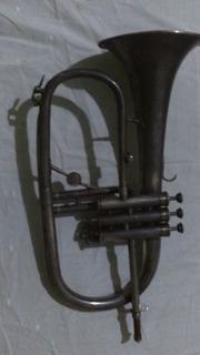 Trompeta Flugerhorns, Frances, Usado, Marca Evette, Plateado