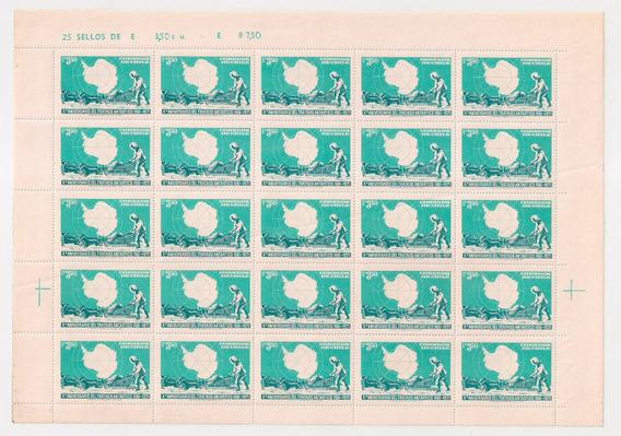 Chile Plancha De 25 Completa Mint Tratado Antàrtico 1961-71