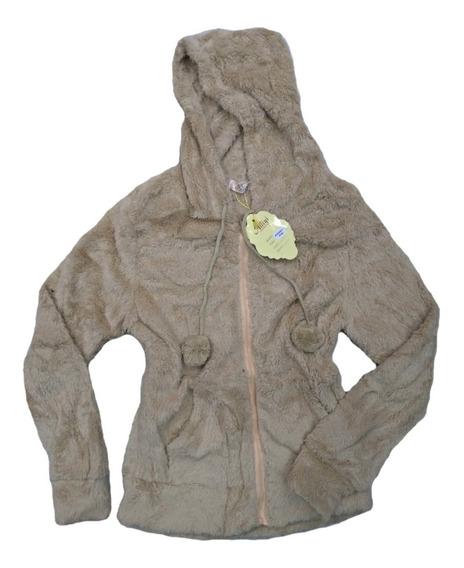 Blusa De Frio Feminina Inverno Pelúcia Casaco Liso Com Ziper