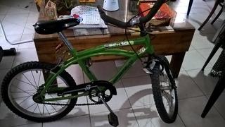 Oportunidad Bici Playera Niño Rodado 16 Color Verde