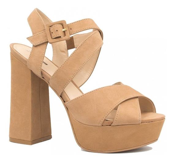 Sandália Zariff Shoes Salto Grosso Fivela 1500500