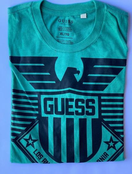 Lote De 2 Camisetas Hombre Guess Original Talla Xl Playera