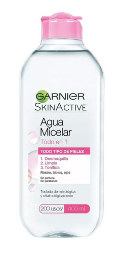 Garnier Skin Active Agua Micelar 400ml Desmaquilla Tonifica