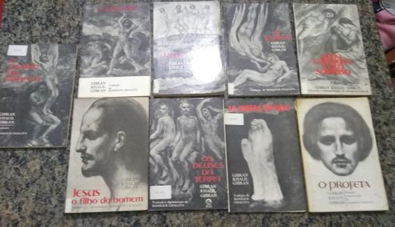 Lote 9 Livros Gibran Khalil Gebran