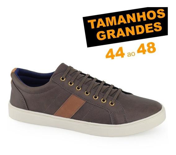 Sapatênis Ms Lite Marrom Café Tamanho Grande 44 45 46 47 48