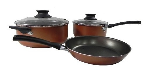 Set De Ollas De 3 Piezas Bateria De Cocina Antiadherente