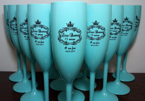 31 Taças De Acrílico Personalizadas Azul Tiffany Debutantes