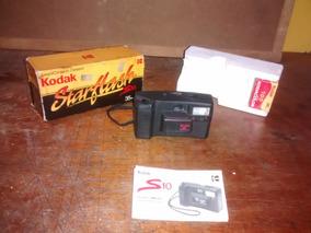 Antiga Câmera Kodak S 10 Mais Brinde Para Decoração
