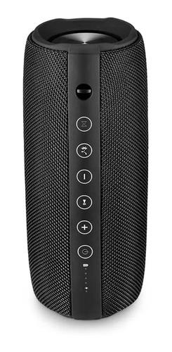 Caixa de som Pulsesound Energy portátil com bluetooth  preta 110V/220V