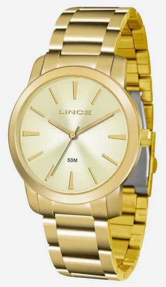 Relógio Feminino Lince Dourado Tradicional Lrg4506l Ku51