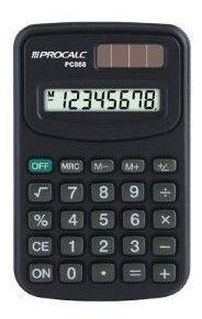 Calculadora Pessoal Procalc Pc888 8 Digitos Preta